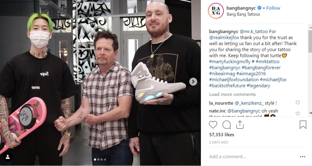 He gave the artist and studio owner some top presents. Credit: Instagram