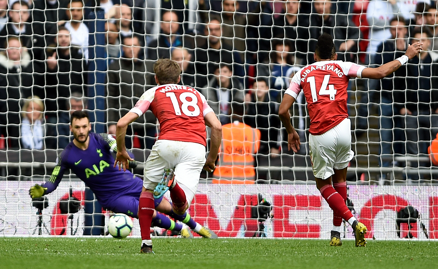 The last action of Spurs at Wembley could be Hugo Lloris' penalty save. Image: PA Images