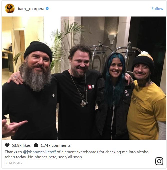 Credit: Bam Margera/Instagram