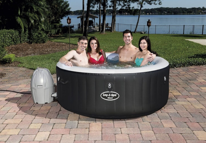 B M Is Selling An Inflatable Hot Tub Which Is Cheaper Than