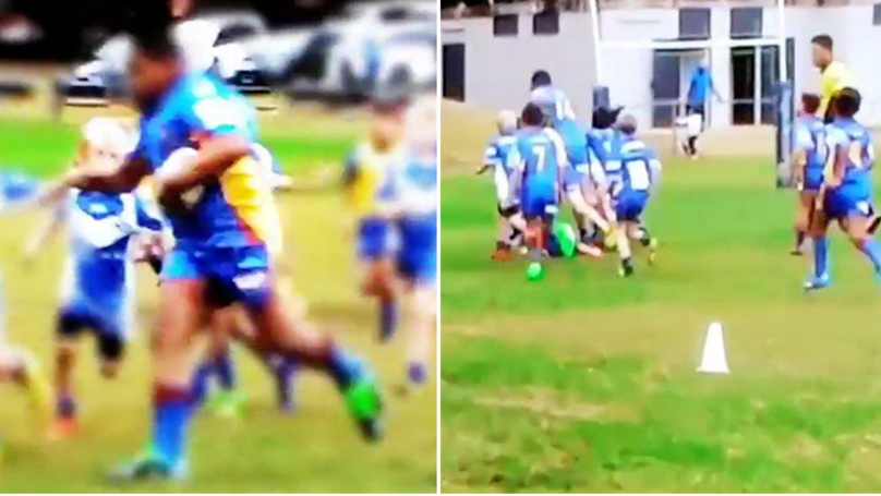Incredible Footage Of 7-Year-Old Rugby Player's Full-Length Try