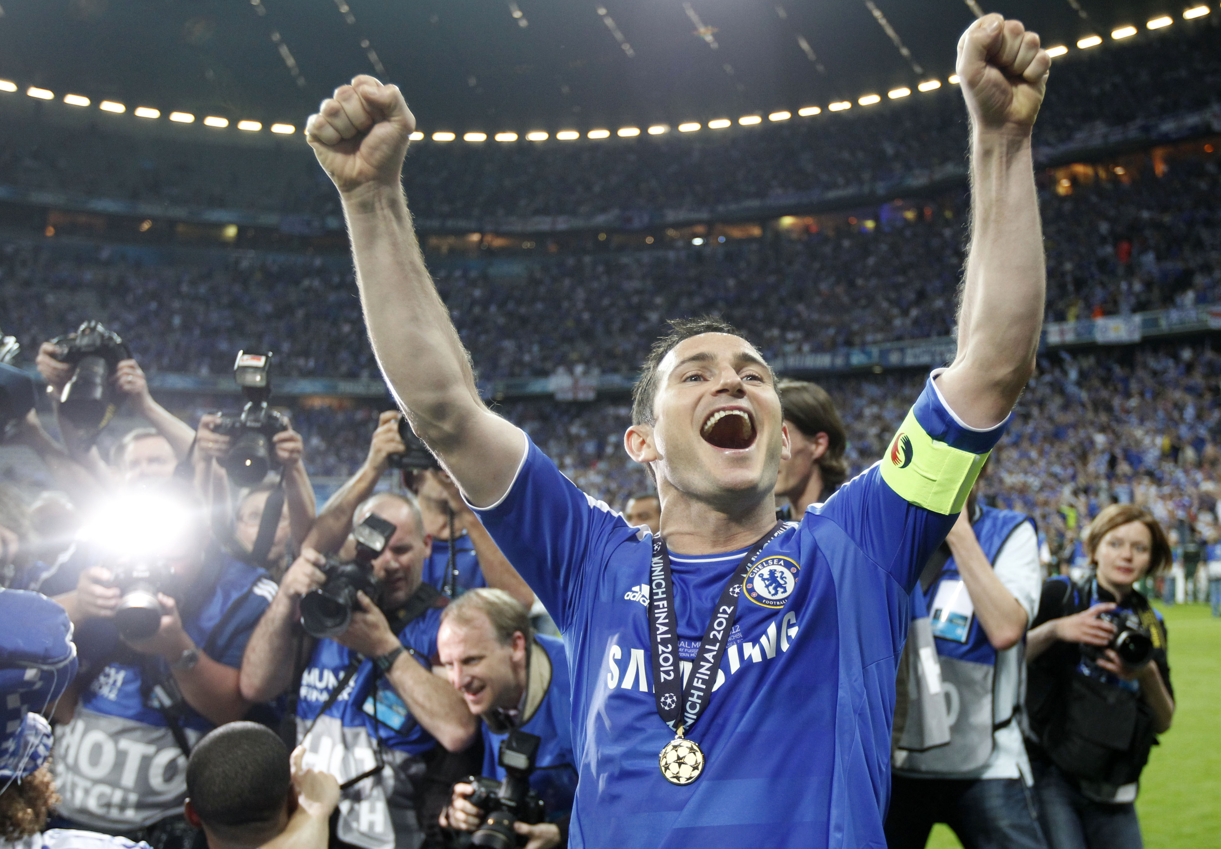 Lampard has been voted the club's greatest player. Image: PA Images