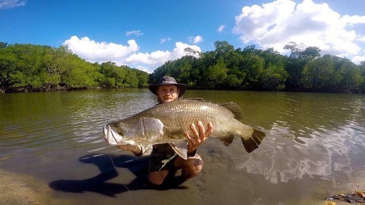 Beau with a massive fish