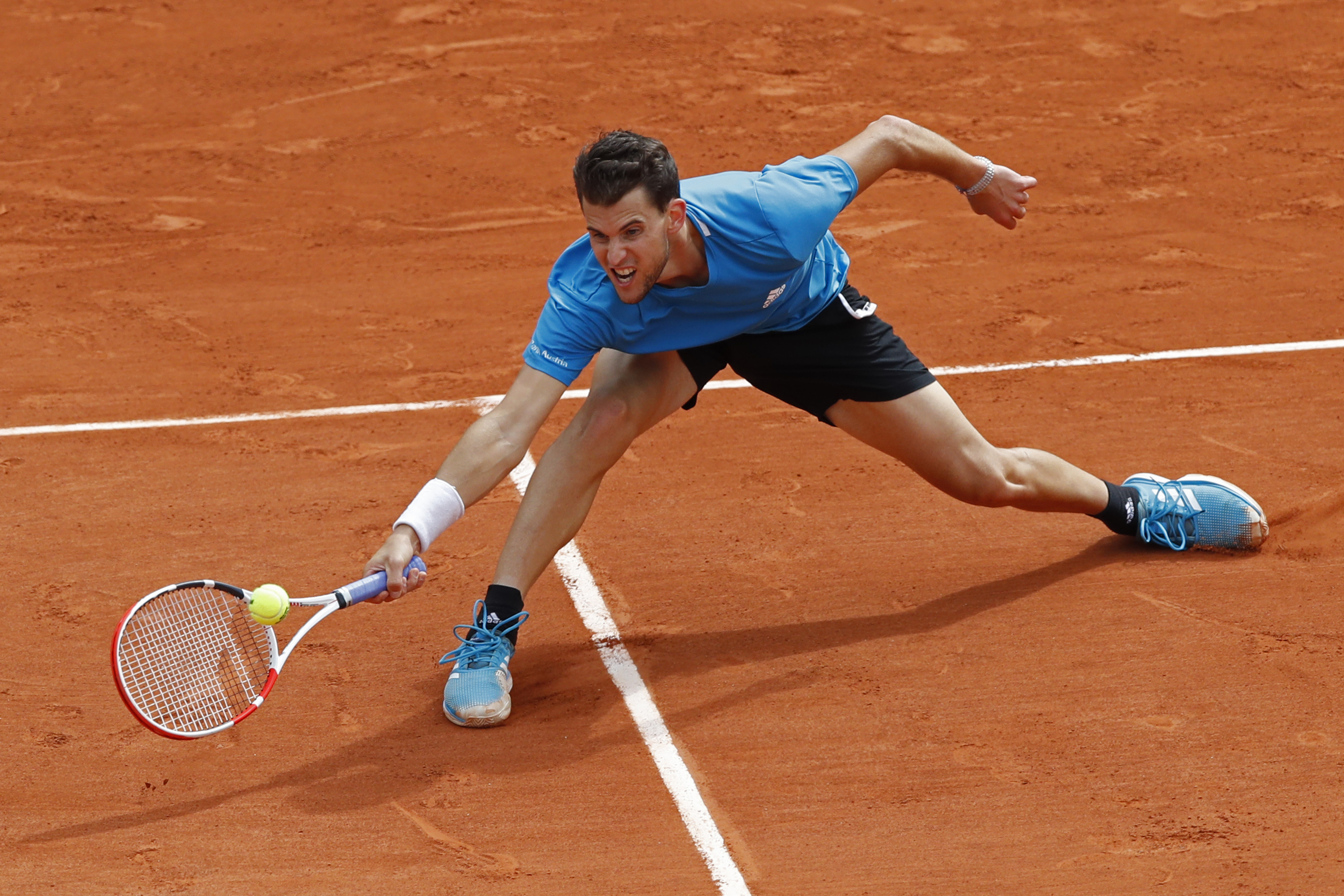 Thiem worked hard but was no match for Nadal. Image: PA Images