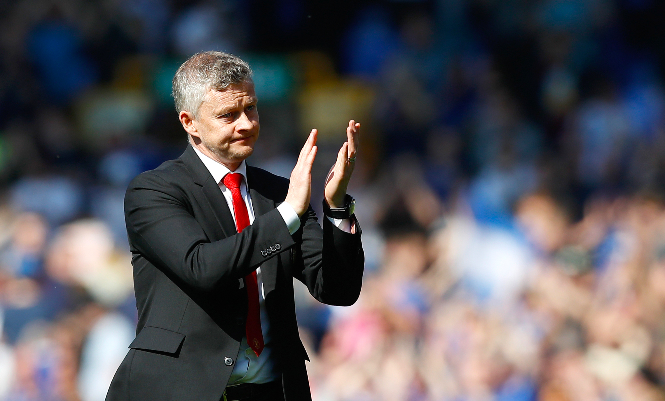 Solskjaer applauds the fans because the players didn't deserve it. Image: PA Images