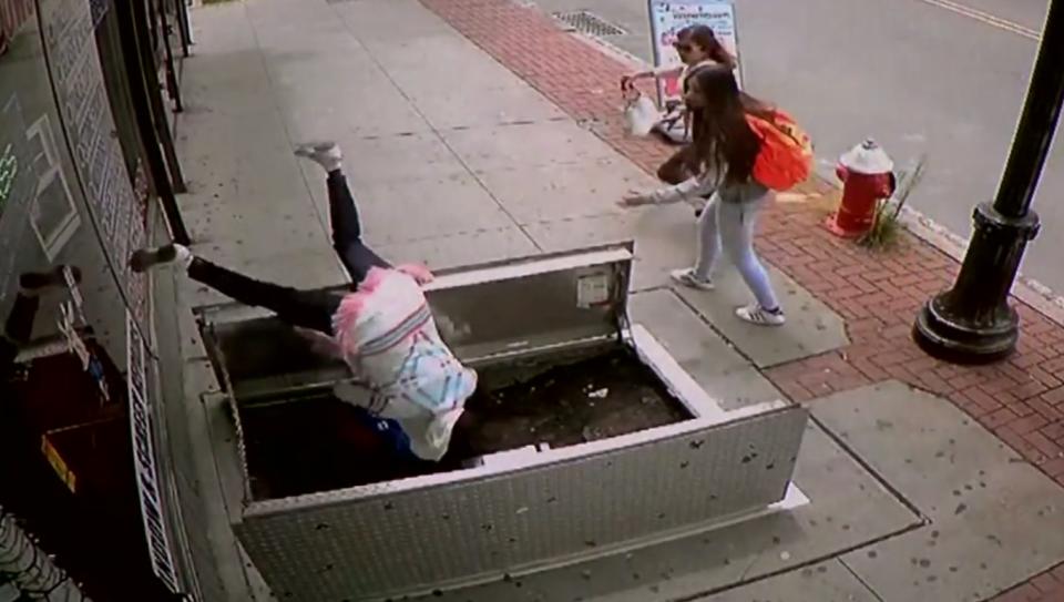 Woman Falls Six Feet Into Basement As She Walks And Texts