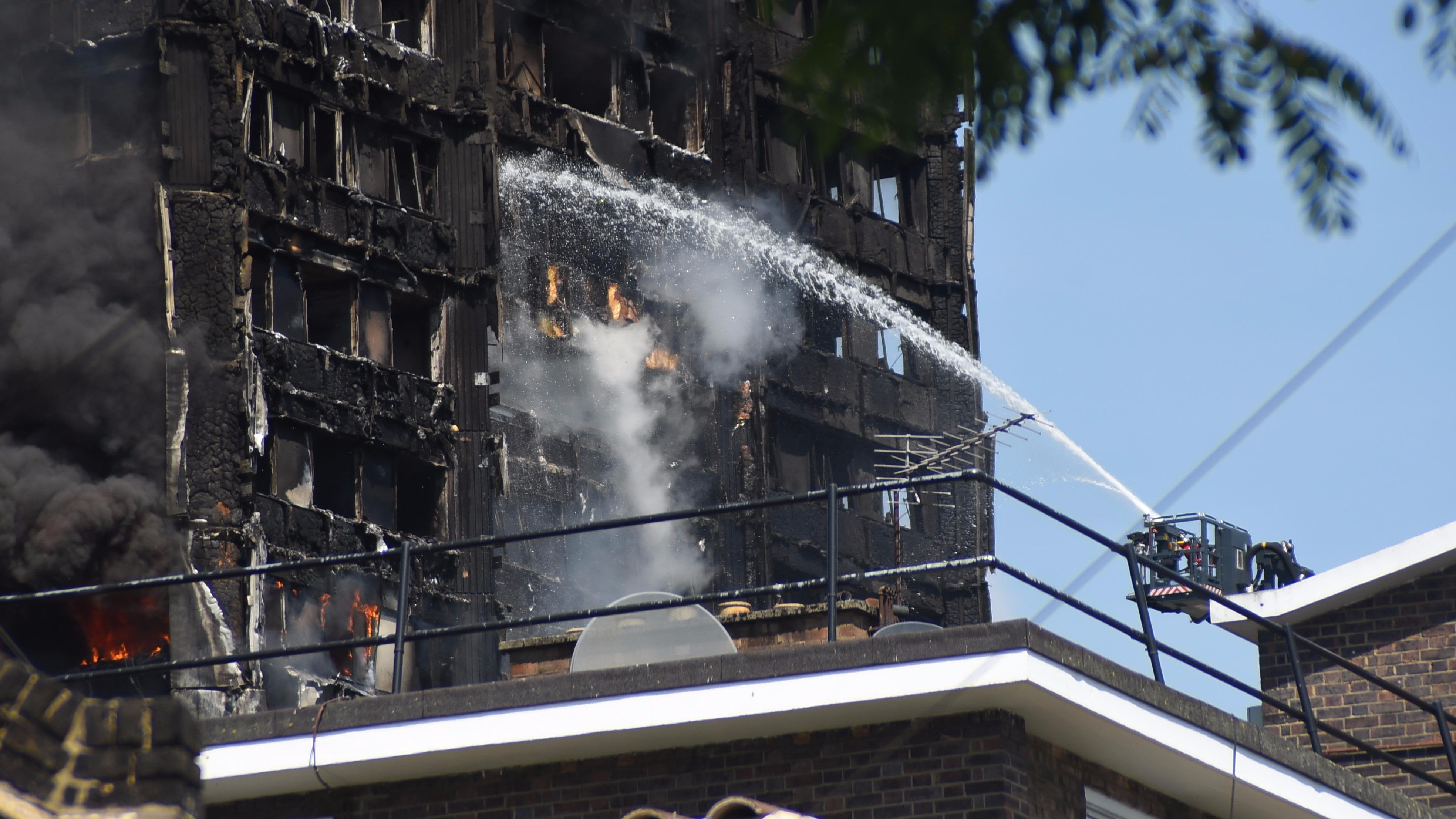 Grenfell Tower ablaze