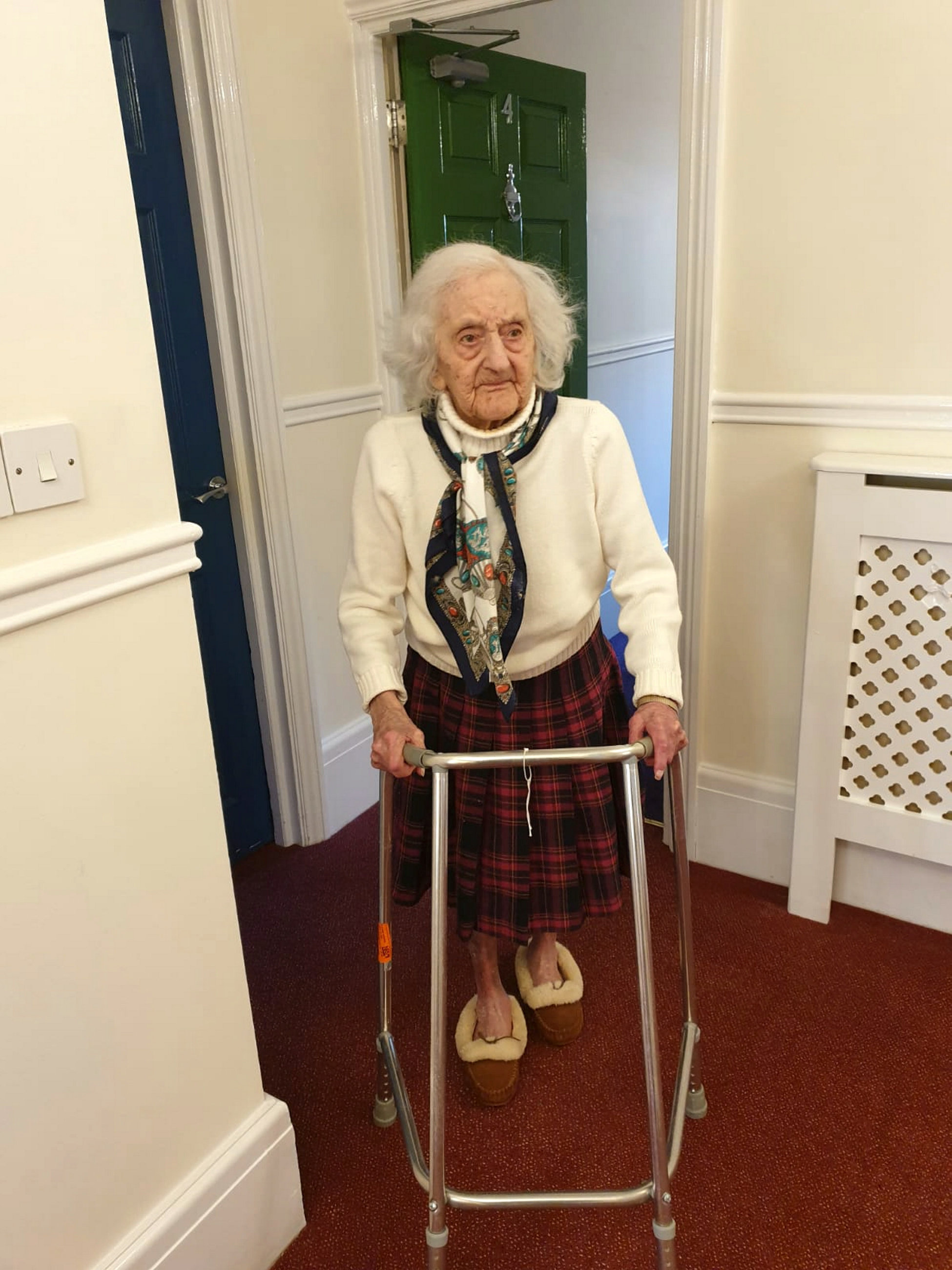 Betty Heath's family were given just hours to find her a new place to live. Credit: SWNS