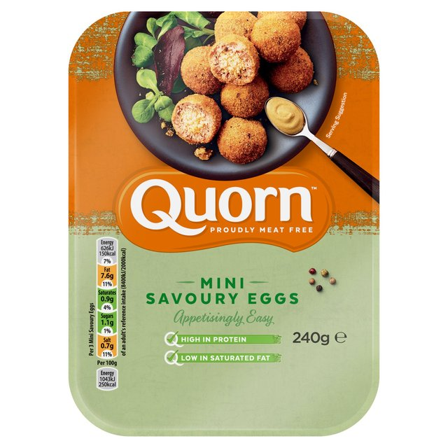 The savoury eggs are being described as 'better than the meat version'. (Credit: Ocado)