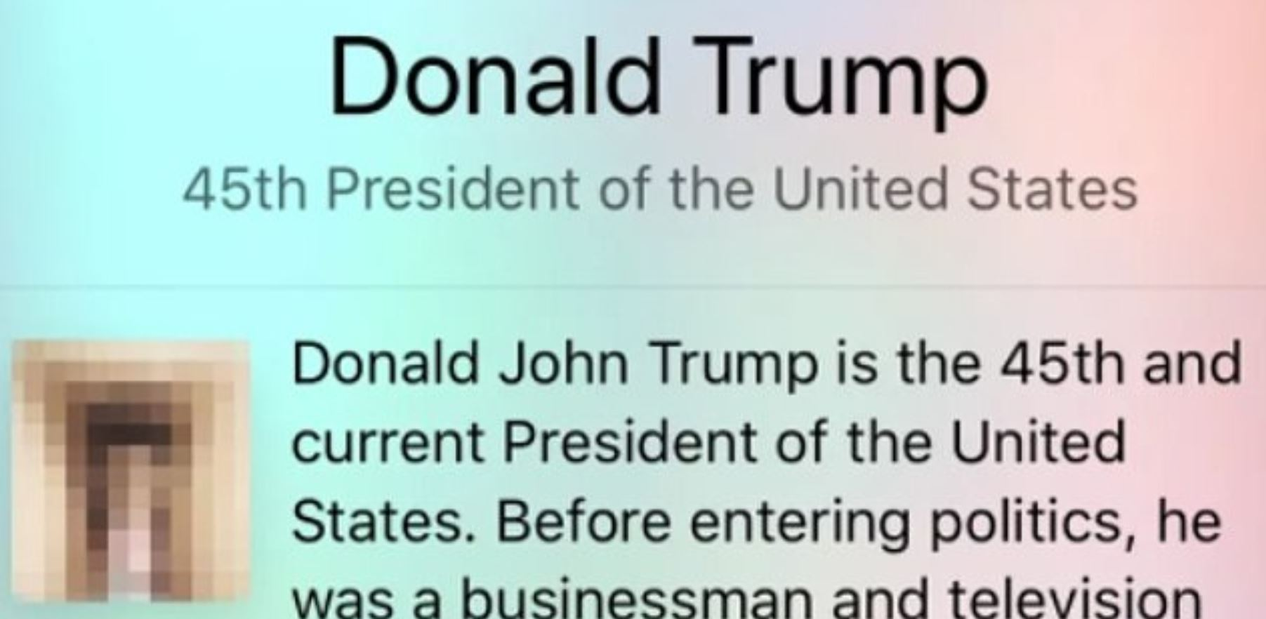 Hackers changed Donald Trump's picture to an image of someone's penis. Credit: Wikipedia