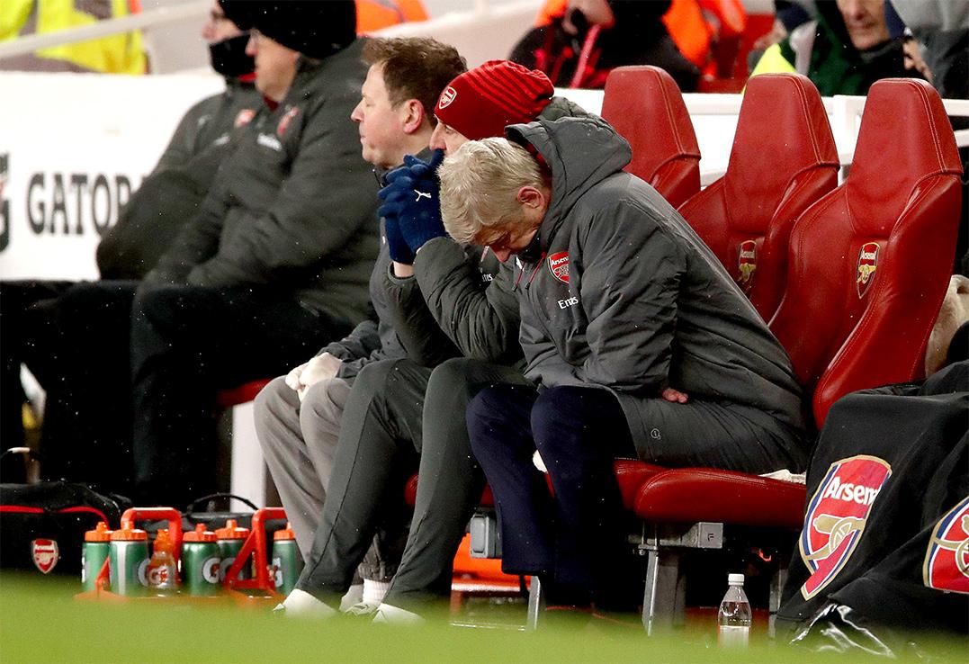 A Dejected Arsene Wenger