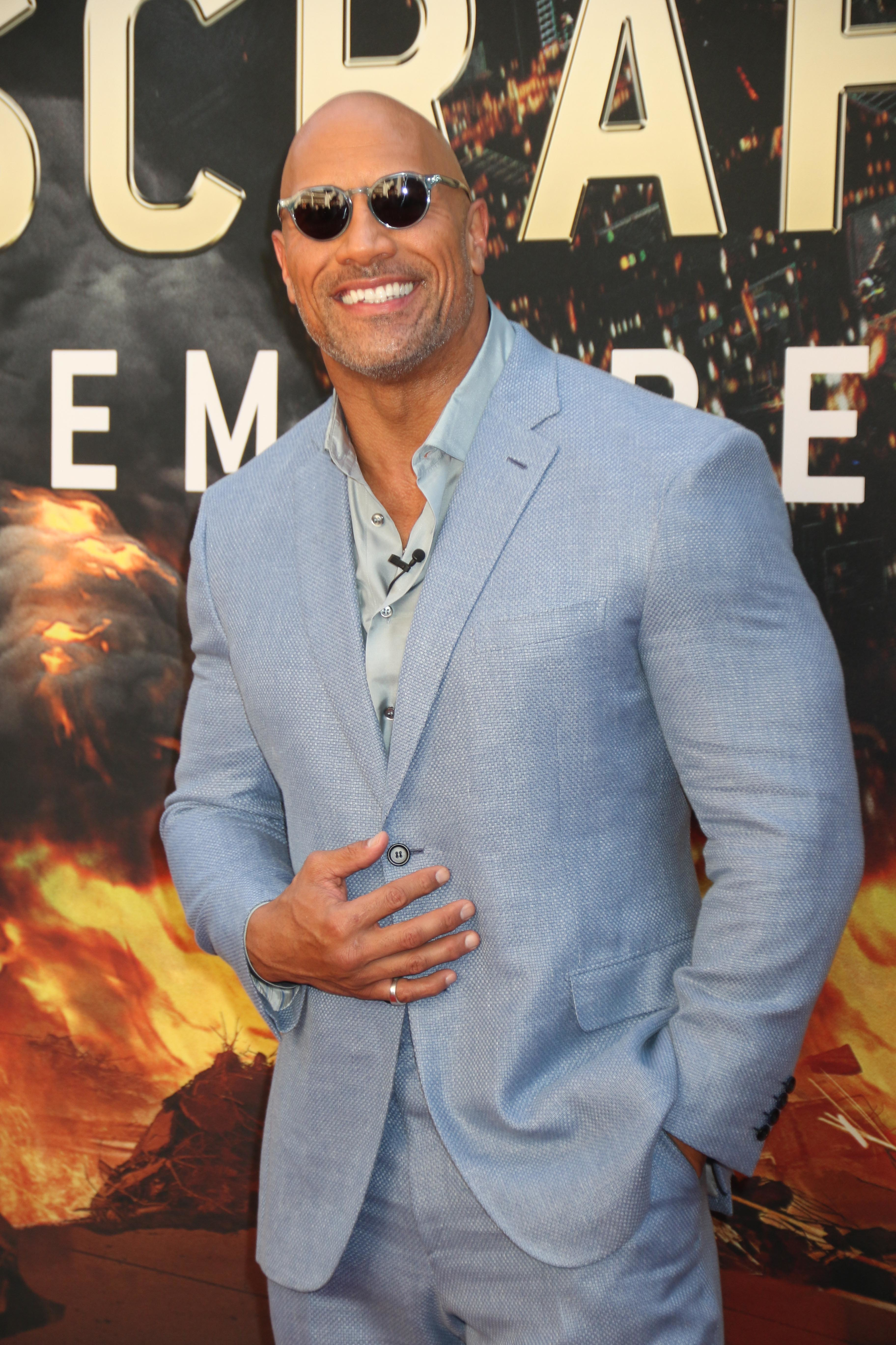 The Rock says the film has been six years in the making. Credit: PA