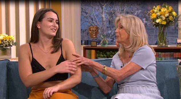 Liz got a little bit handsy with Emily which didn't seem to go down too well. Credit ITV  This Morning