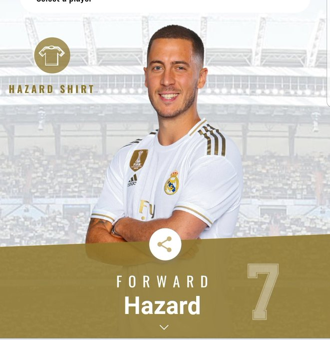 Real Madrid announce Eden Hazard shirt number