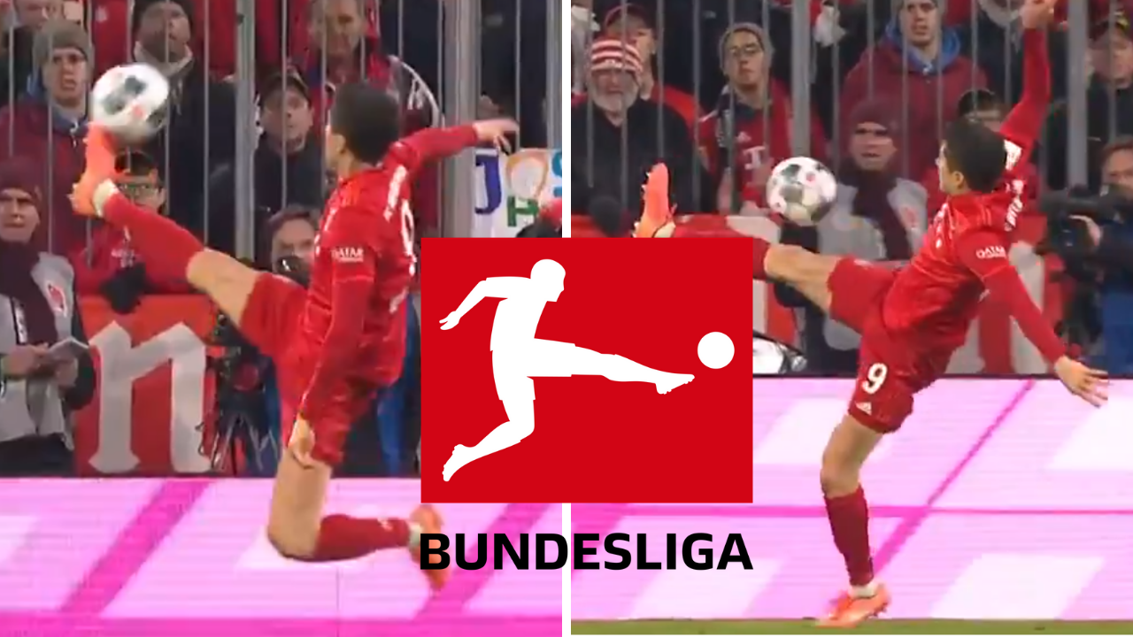 robert lewandowski produces insane touch and becomes the bundesliga logo sportbible sportbible
