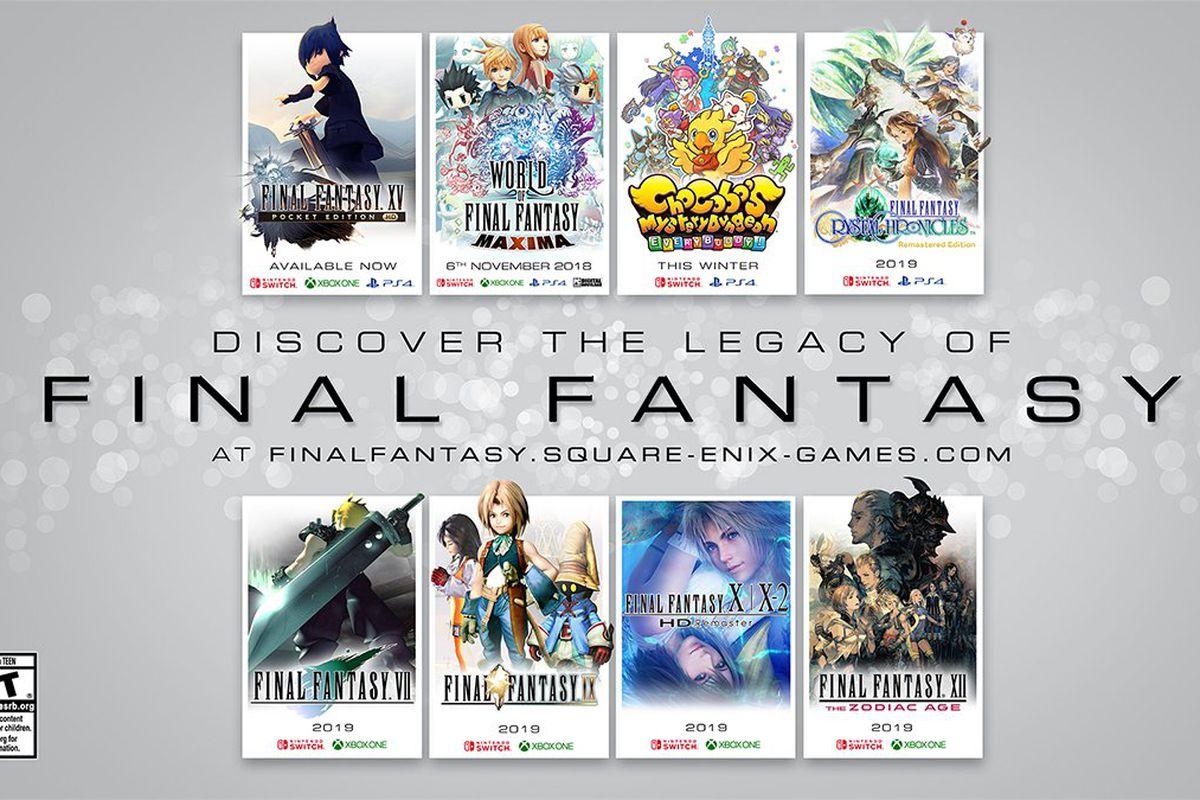 Classic Final Fantasy PlayStation Games Are Coming To Switch