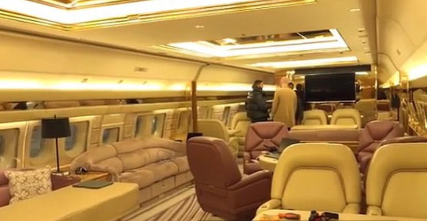 Drake's plane is pretty lavish on the inside too. Credit: Instagram/Drake