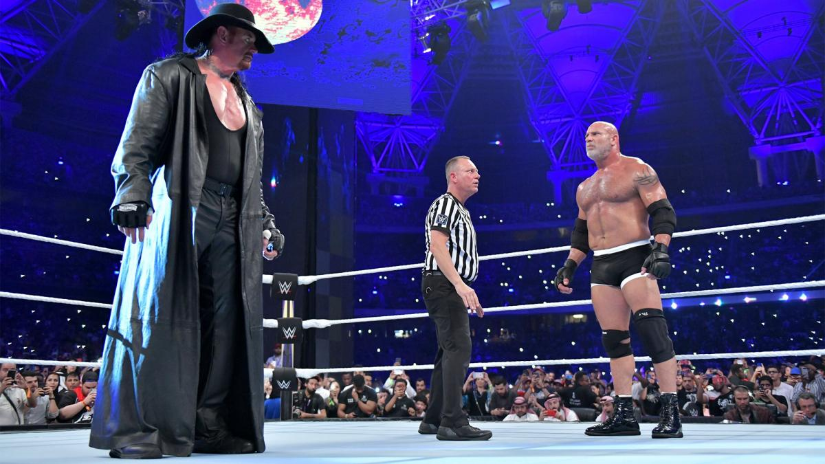 Undertaker and Goldberg were squaring off for the first time (Image Credit: WWE)