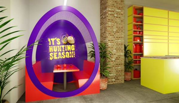 An artist's impression of what the secret property could look like. Credit: Cadbury/Booking.com