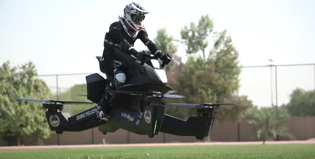 Dubai Police Set To Use Hoverbikes To Fight Crimes In The Sky Credit: Hoversurf