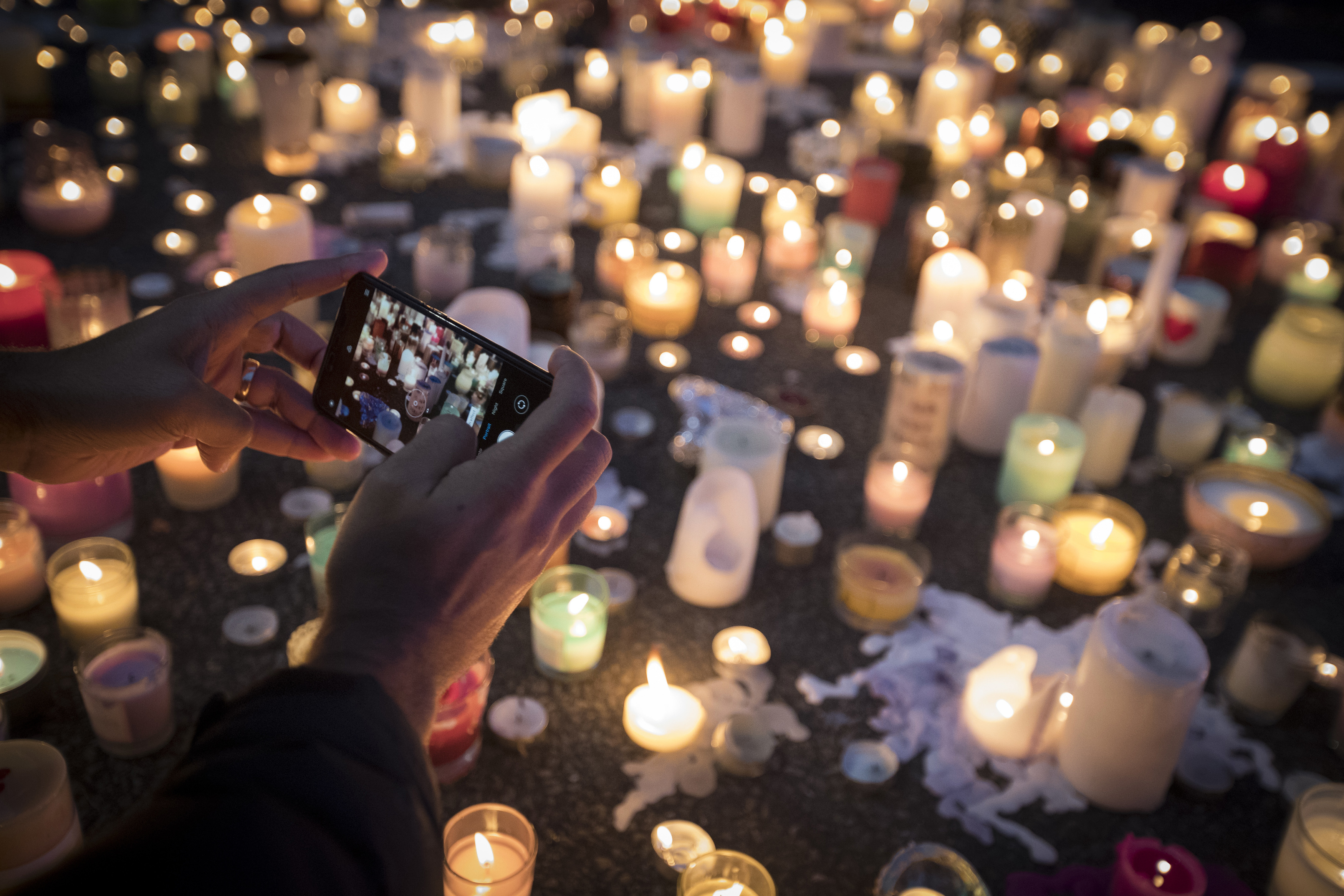 A candlelit vigil was led by Christchurch students. Credit PA