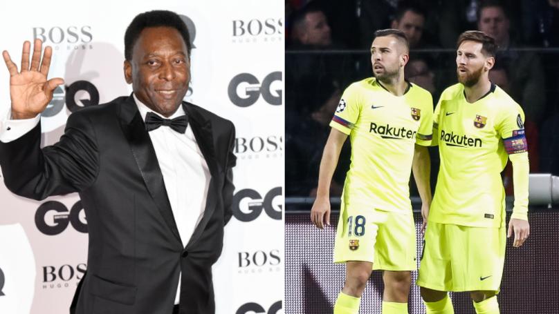 Jordi Alba Had A Savage Response To Pele After His Lionel Messi Criticism