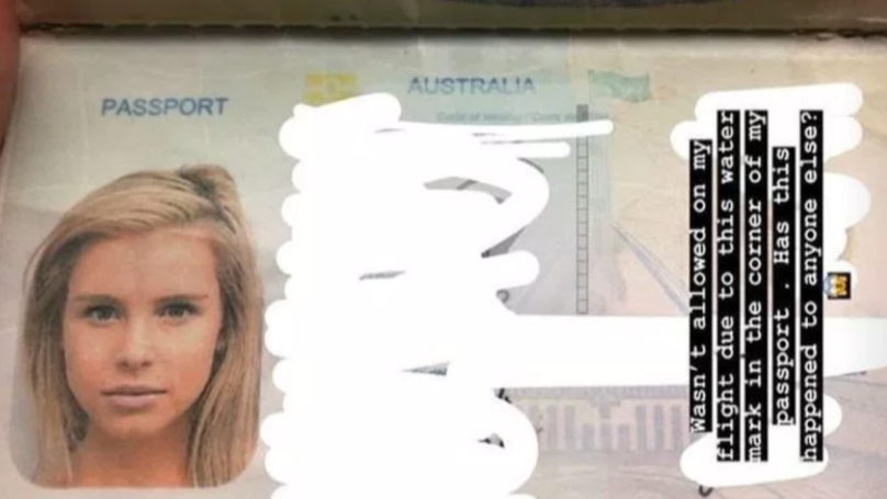 Model Stranded In Bali After Passport Is Rejected Due To 'Water Mark'