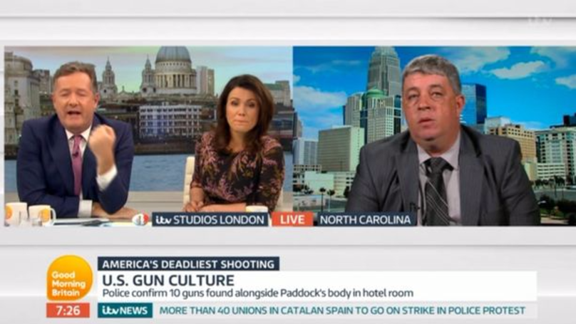 Piers Morgan Loses It With Pro-Gun Campaigner