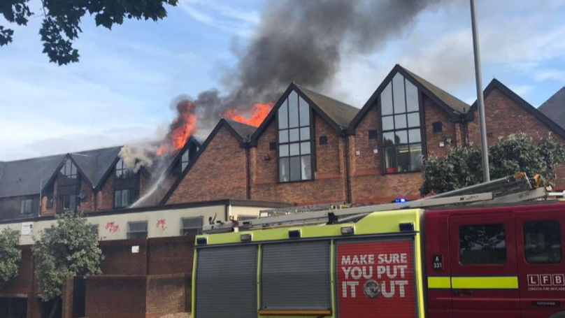 Around 125 Firefighters Battle Huge Blaze At The Mall Shopping Centre