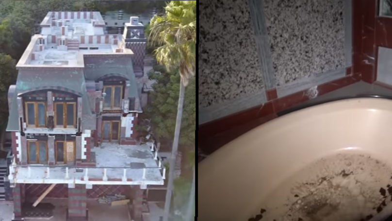 Urban Explorers Check Out A Seriously Creepy Abandoned Mansion