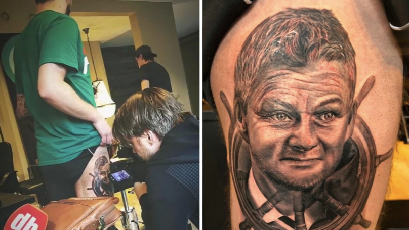 "Manchester United Fan Literally Gets ""Ole's At The Wheel"" Tattoo"