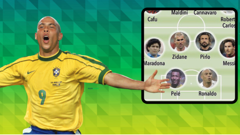 Ronaldo Nazario's Dream XI Is The Greatest Team Ever