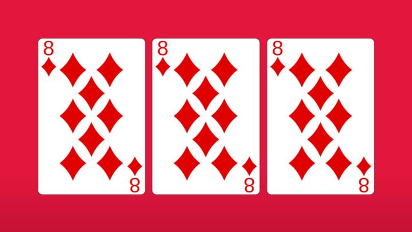 Man Reveals Hidden Figure Of 8 On 8-Of-Diamonds Card On Twitter