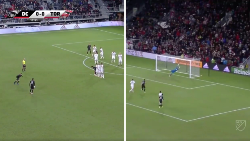 Wayne Rooney Scores An Absolute Stunning 35-Yard Free-Kick For DC United