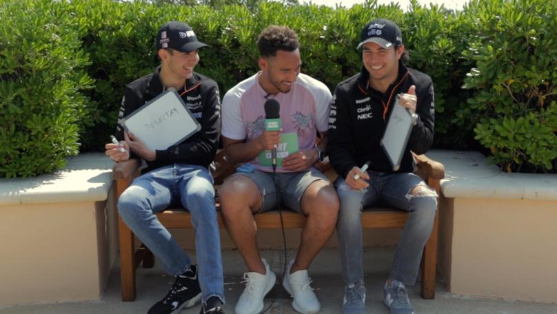 WATCH: Teammates: Sahara Force India's Sergio Perez And Esteban Ocon