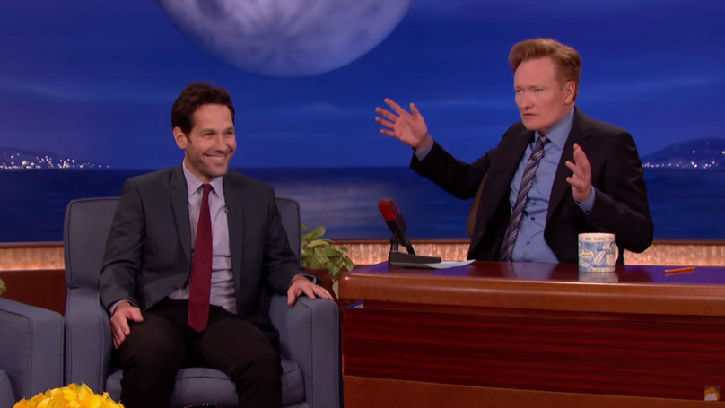 ​Paul Rudd's Been Playing The Same Prank On Conan O'Brien For 15 Years