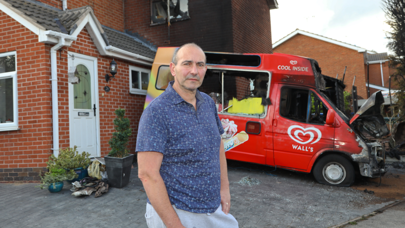 Ice Cream Seller Loses Thousands After Arsonists Torch Two Vans In Bitter Turf War