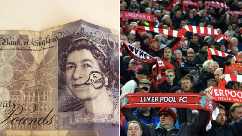 Liverpool Supporter Trolled Everton Fan With 'Six Times' £20 Note Withdrawn From Cash Machine