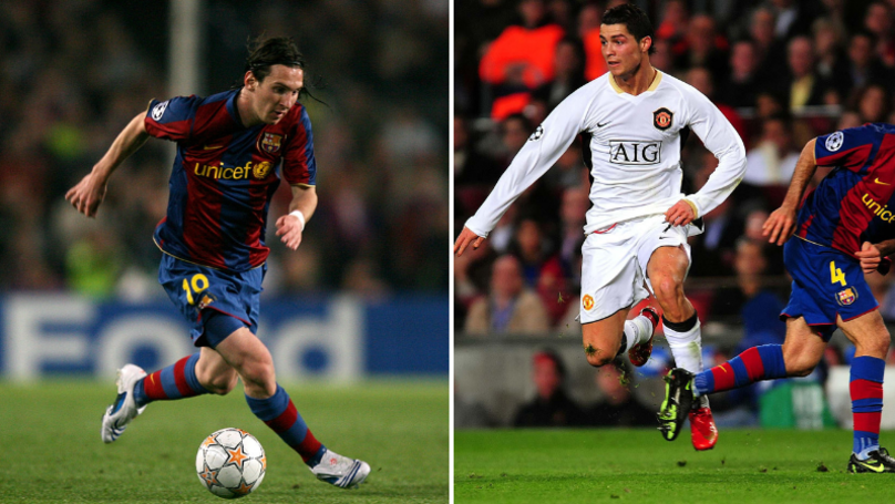 Highlights Of First Meeting Between Cristiano Ronaldo And Lionel Messi