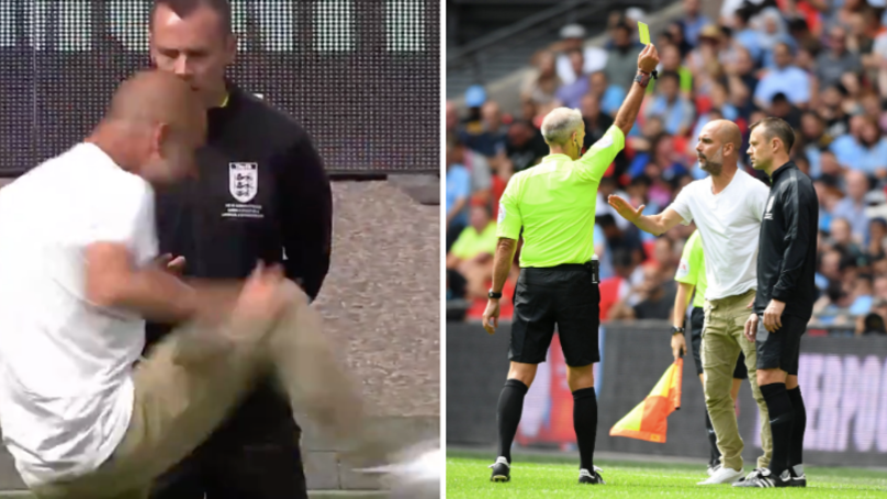 Pep Guardiola Becomes The First Premier League Manager To Be Shown A Yellow Card