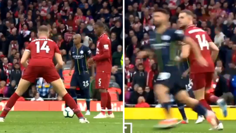 Liverpool Fan's Hilarious Thread About Sergio Aguero Being Scared To Death Of Jordan Henderson