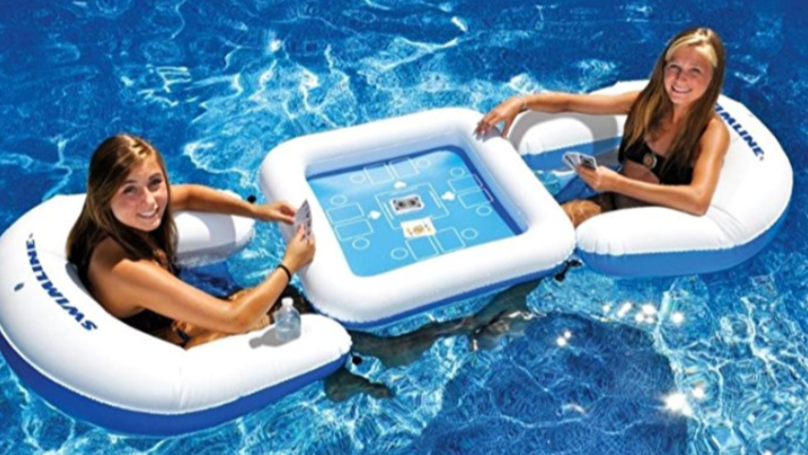 Try Your Luck With These Floating Games Tables For The Pool