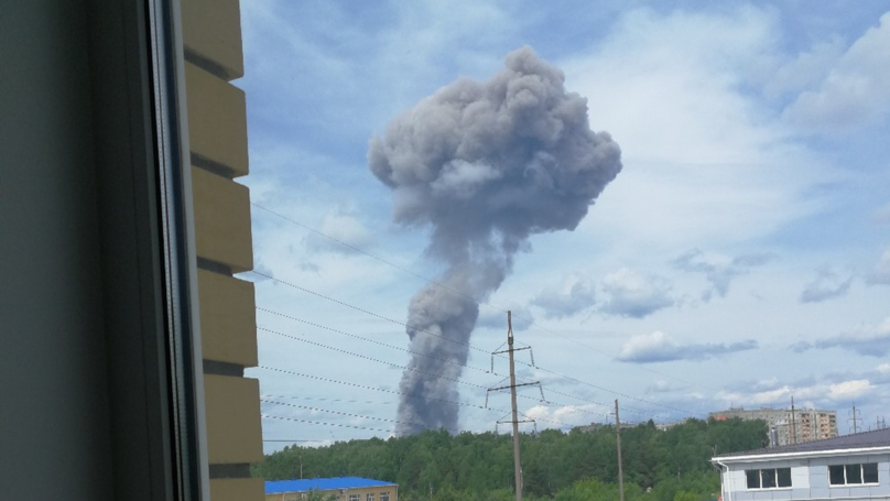 Mushroom Cloud Engulfs City As Explosions Erupt At Major Russian Bomb-Making Plant