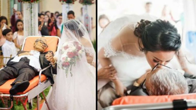 Terminally Ill Dad Granted Final Wish To Take His Daughter Down the Aisle