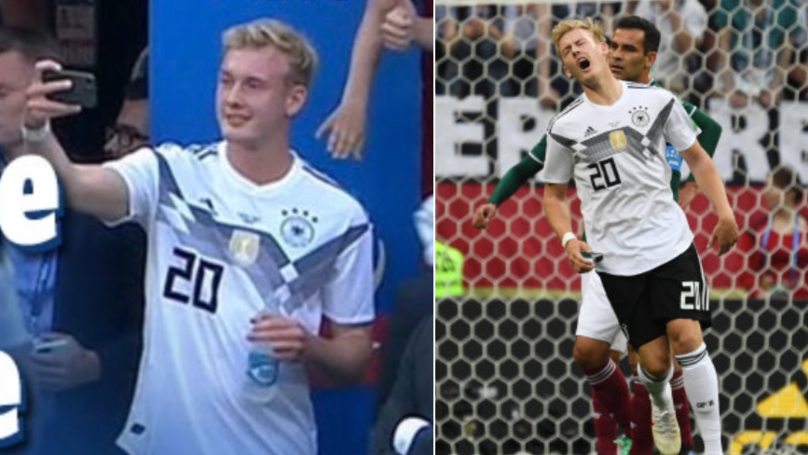 German Media Attack Julian Brandt For Taking A Selfie With A Young Fan At The World Cup