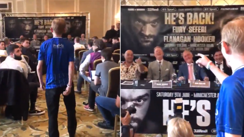 'The Wealdstone Raider' Has Just Crashed Tyson Fury's Press Conference