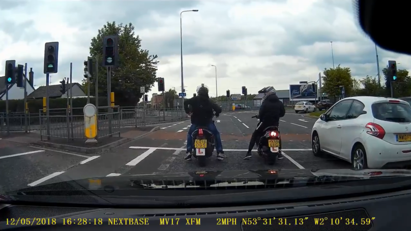 Undercover Cops On Scrambler Bikes Swarm On Moped Gang In Dramatic Dashcam Footage