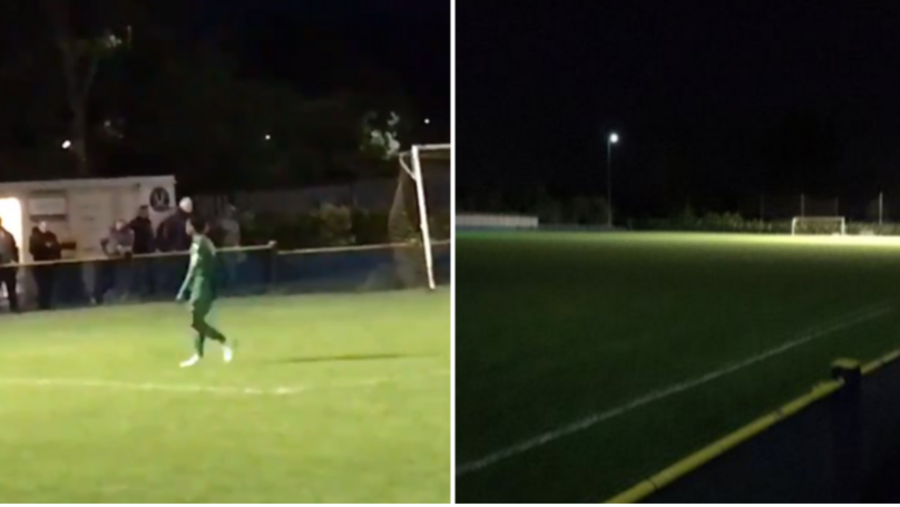 Non-League Player Turns Off Floodlights After Being Shown Red Card