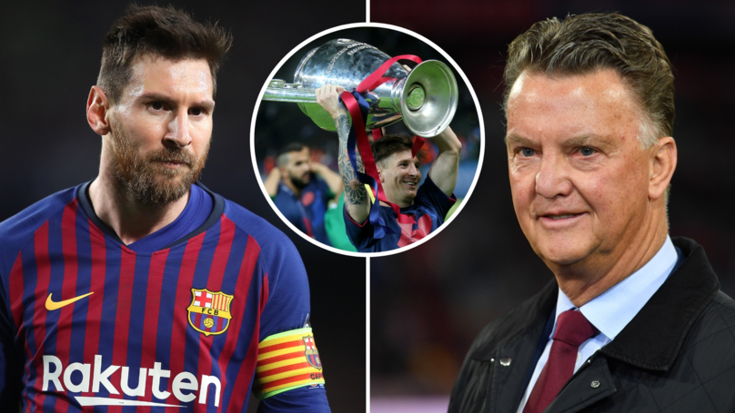 Lionel Messi Should Ask Himself Why He Hasn't Won The Champions League Since 2015, Says Van Gaal