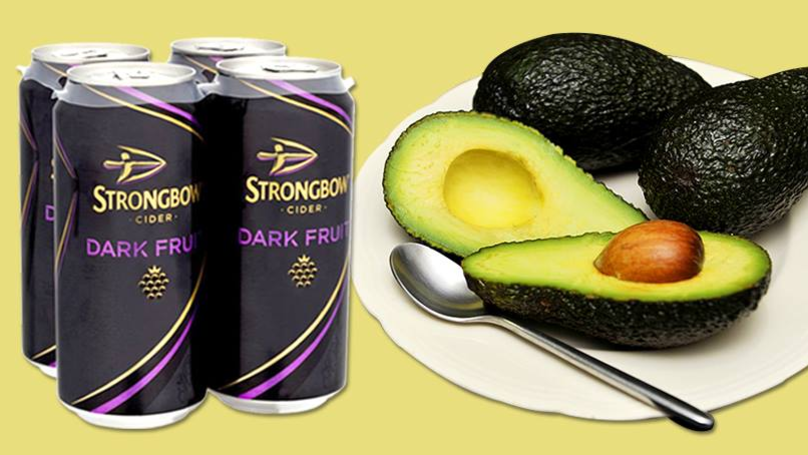 A Can Of Strongbow Dark Fruit Is Less Calorific Than An Avocado